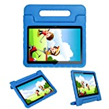 i-original Compatible Huawei MediaPad T3 10-in Case,Shock Proof Huawei Honor Play Pad 2 9.6-in EVA Case for Kids Bumper Cover Handle Stand,Convertible Handle Lightweight Protective Cover (Blue) (Color: blue)