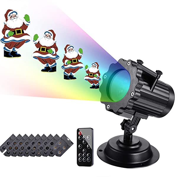 Coidak Christmas Lights Projector, Continuous Animation LED Projection Light with 2.4G RF Remote Control for Holiday, Christmas Decorations, Thanksgiving, Birthday Party (Color: Anime Projector)