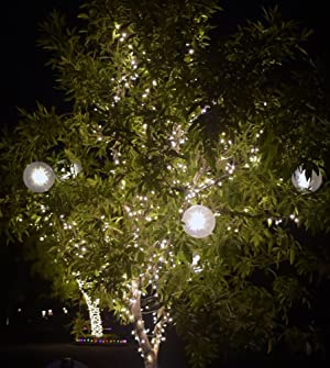 Stay Off The Roof Christmas Star Jumbo Sphere LED Lights Set - 10 ft Lighted Length, Connect up to 90 Sets - Warm White - Indoor/Outdoor Use, Pack of 3 (Color: Warm White Jumbo Sphere)