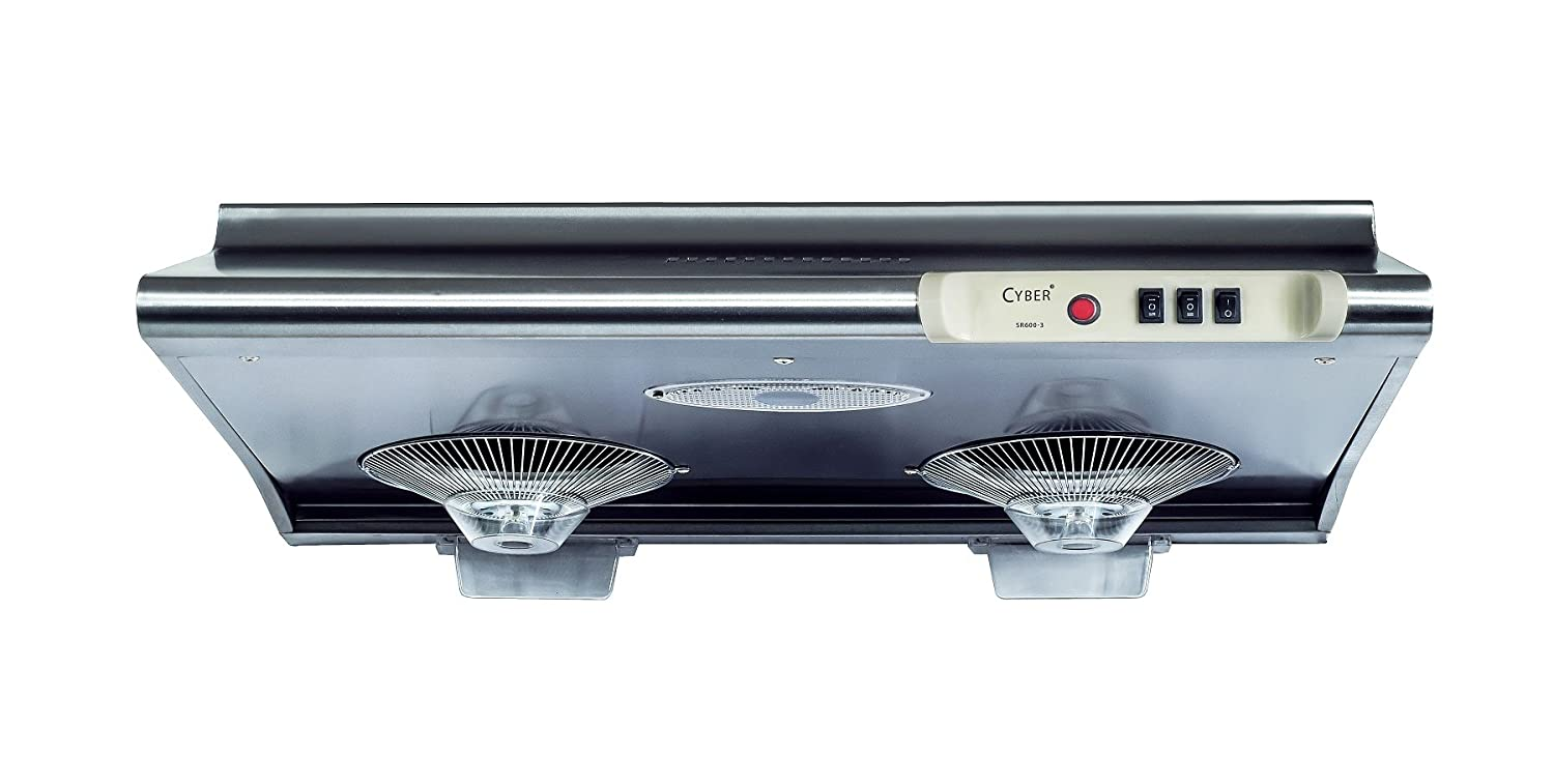 "CYBER® Classic Designs Seamless Steel Under Cabinet Range Hood 30"" Three Speed ≤59dB(A) SR600-3"