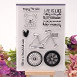 Seaskyer Bear Transparent Clear Stamp For Card Making, DIY Silicone Clear Stamp Cling Seal Scrapbook Embossing Album Decor Craft