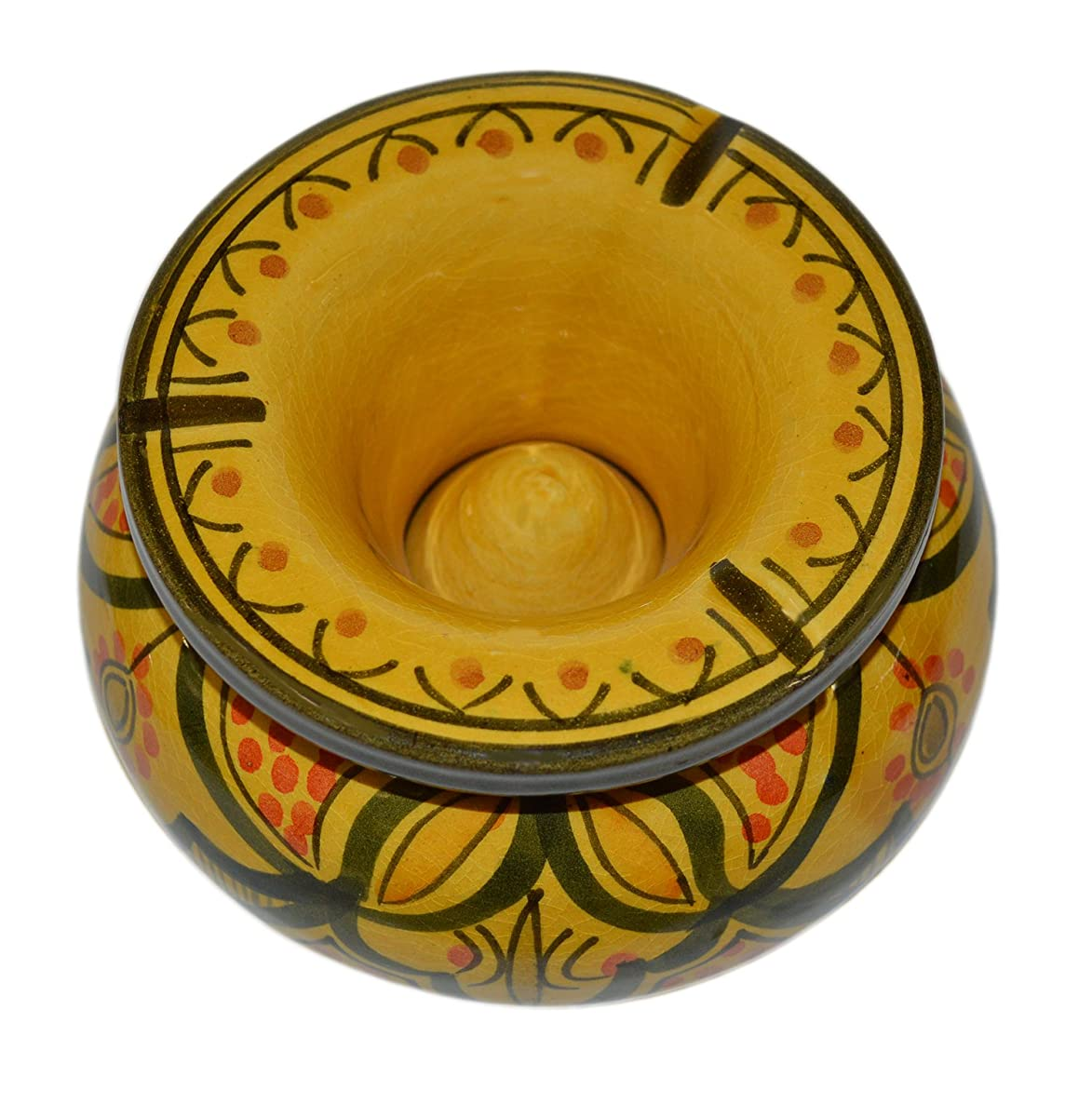 Moroccan Handmade Ceramic Ashtrays Smokeless Cigar Exquisite design with Vivid Colors large