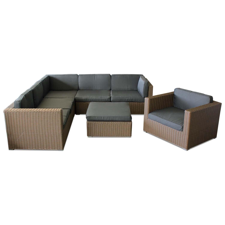 Polyrattan Garnitur Couchgarnitur Gartengarnitur Gartenmöbel Gartenset Sitzgruppe Sitzgarnitur Sitzlandschaft Rattanmöbel Loungemöbel jetzt bestellen