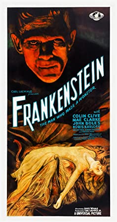 "FRANKENSTEIN (1931) Three Sheet (14"" X 27"") Style C Movie Poster"