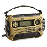 HQ ISSUE Digital Multi-Band Solar Powered Weather Radio, Olive Drab (Color: Olive Drab)