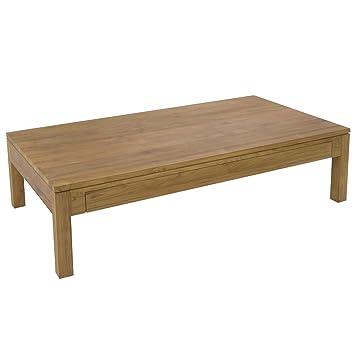 emotion table basse basse en teck avec 2 tiroirs 150x80cm 150x80cm naturel alinea 1. Black Bedroom Furniture Sets. Home Design Ideas
