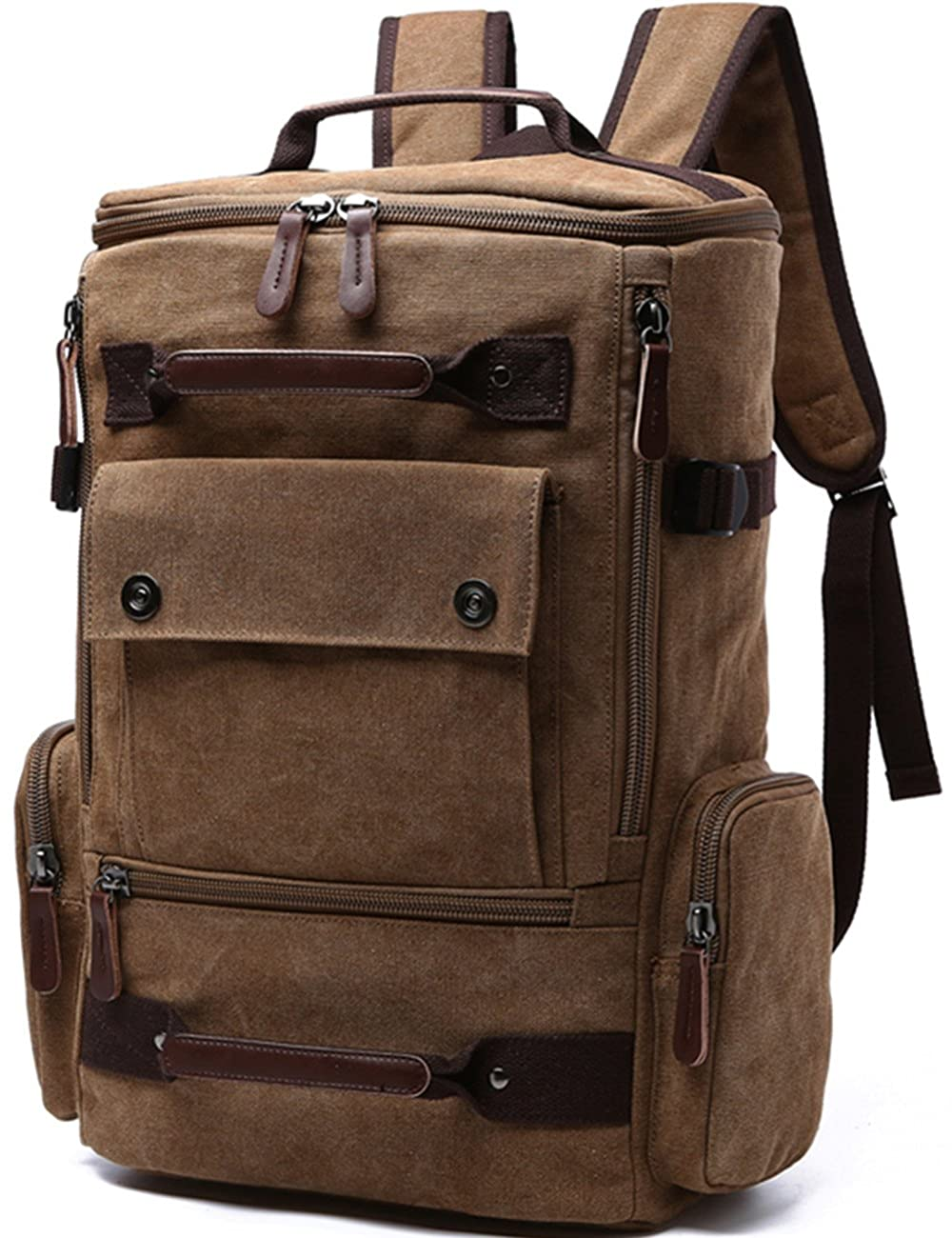 Aidonger Unisex Vintage Canvas Backpack Laptop Backpack 0