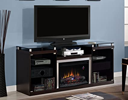 "ClassicFlame 26MM9404-E451 Albright TV Stand for TVs up to 80"", Espresso (Electric Fireplace Insert sold separately)"