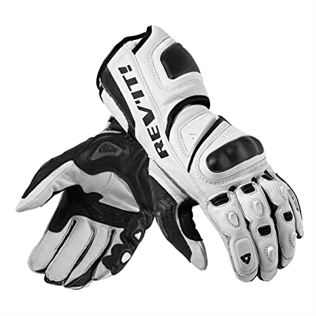 FGS092 - 3050-S - Rev It Jerez Pro Motorcycle Gloves S White/Black