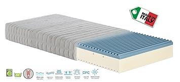 Materassimemory Matratze Memory Foam Onda, Bezug abnehmbar 135 x 190 cm
