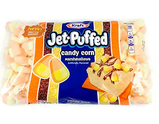 New! Limited Edition! Kraft Jet-puffed Candy Corn Marshmallows 14oz Bag (Pack of 2)