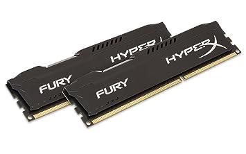 HyperX Fury HX313C9FBK2/8 Mémoire RAM 8Go 1333MHz DDR3 CL9 DIMM Kit (2x4Go) Noir