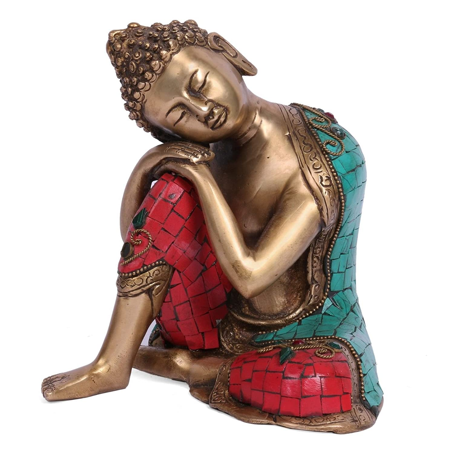 handcarved resting buddha statues metal brass bronze resin