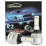 R2 COB 9006 HB4 9006XS 8000LM LED Headlight Conversion Kit, Low Beam Headlamp, Fog Driving Light, Halogen Head light Replacement, 6500K Xenon White, 1 Pair- 1 Year Warranty