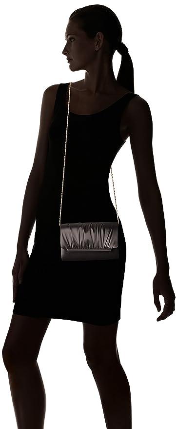 La Regale Modern Satin Roll Clutch, Black, One Size: Handbags: Amazon.com