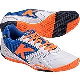 Kelme Mens K-Tecnica Indoor Soccer Shoes White/Royal 8