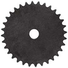 Martin Roller Chain Sprocket, Reboreable, Type A Hub, Single Strand, 25 Chain Size