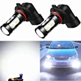 Alla Lighting 50W CREE 9006 HB4 White High Power Extremely Super Bright LED Fog Lights Lamps Replacement (Tamaño: 9006)