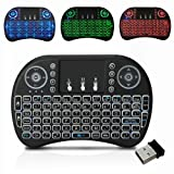 Wireless Keyboard with backlight, 2.4GHz Portable Rechargable Keyboard with Touchpad Mouse for Android TV BOX,PC,PAD,XBOX