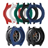 Chofit Case for Galaxy Watch 46mm Case Silicone Shock-Proof Protector Cover Case Compatible with Samsung Galaxy Watch 46MM / Gear S3 Frontier Smartwatch (Multicolor-5pcs) (Color: Multicolor-5pcs)