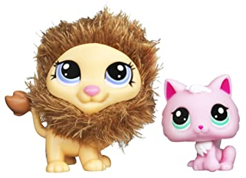 Duo Littlest Petshop Cutest Pets 25574 LE ROI LION tout doux & 2575 CHATON KITTY ROSE