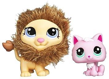 Duo Littlest Petshop Cutest Pets 25574 LE ROI LION tout doux & 2575 CHATON KITTY ROSE