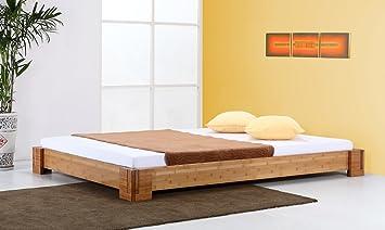 Bambusbett `Bali` braun - 20cm hoch - in vielen Größen / Möbel und Kolonialstilmöbel/ Variante: Matratzengröße: 180x220cm