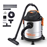 TACKLIFE Wet Dry Vacuum, 5 Gallon, 5.5 Peak HP, 1000W Stainless Steel Wet/Dry Vac, Over 320 Square Feet Clean Range, 4-Layer Filtration System, Dry?Wet?Blow Three Functions for Cleaning Needs-PVC02A (Tamaño: 1000W Stainless Steel Vacuum)