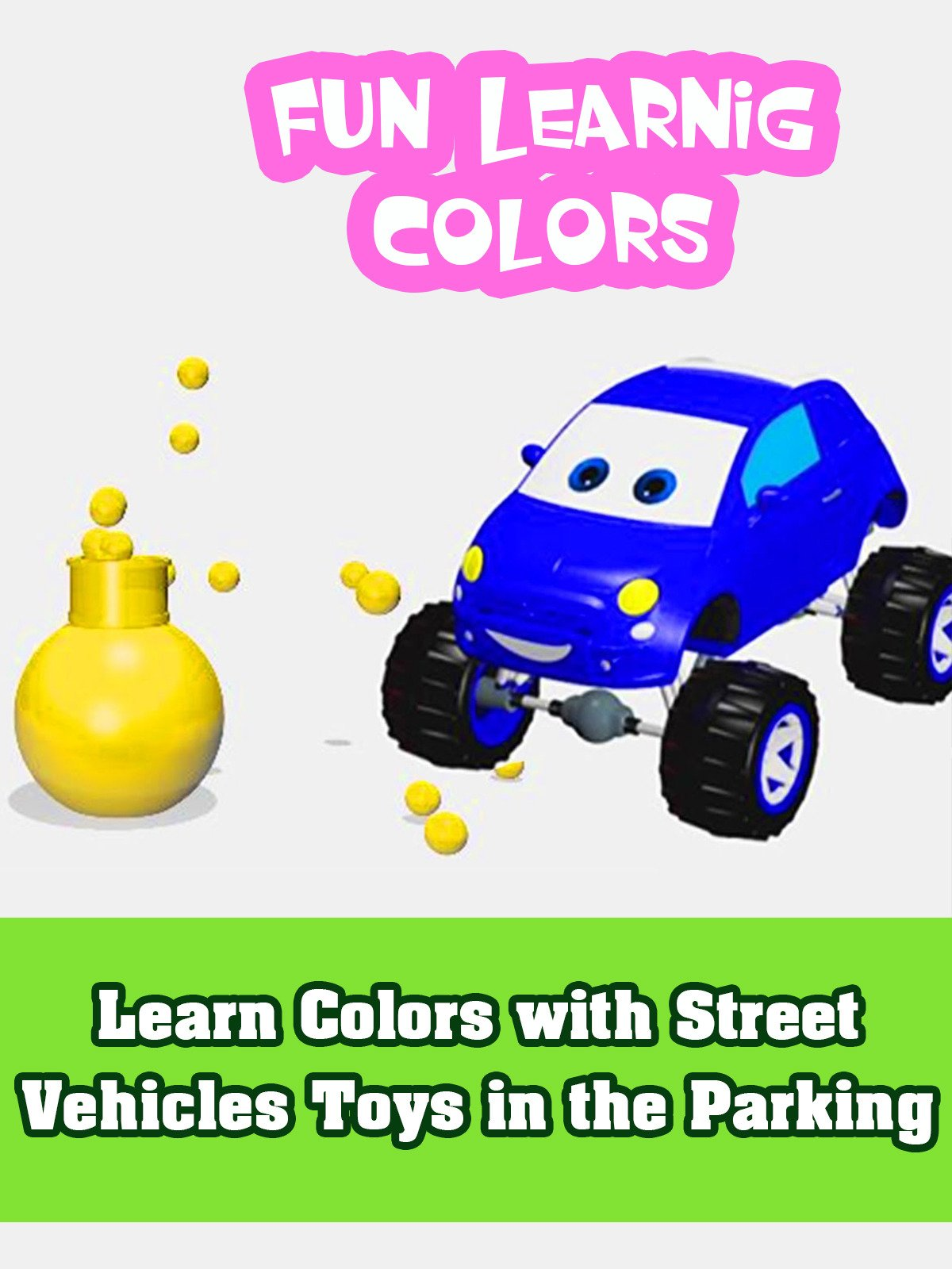 Learning Colours with Fun Monster Truck Cartoon for Kids and Crazy Jumps on Amazon Prime Video UK