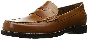 Rockport Men's Classic Move Penny Cognac Leather 10.5 M (D)