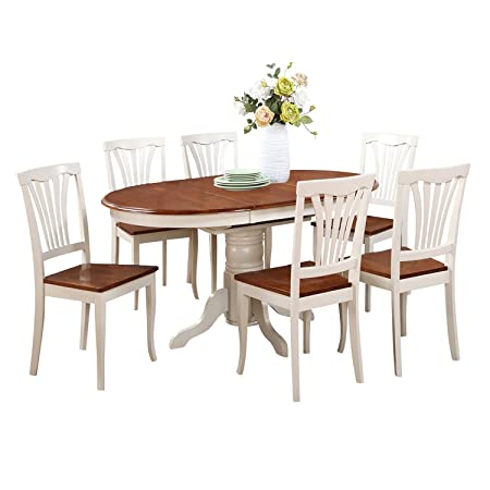 East West Furniture KEAV5-WHI-W 5-Piece Dining Table Set