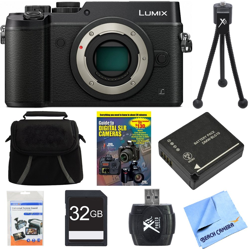 Panasonic DMC-GX8SBODY LUMIX GX8 4K Interchangeable Lens Camera Body Bundle includes DMC-GX8KBODY LUMIX GX8 4K Camera, Gadget Bag, Training Guide DVD ...