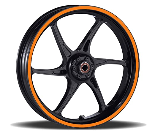 Vehicleartz 16 to 19 inch Motorcycle Car /& Truck Wheel Rim Trim Tape Stripes Dark Orange Red Size 4-1//2inch or 12.5mm Wide Scooter