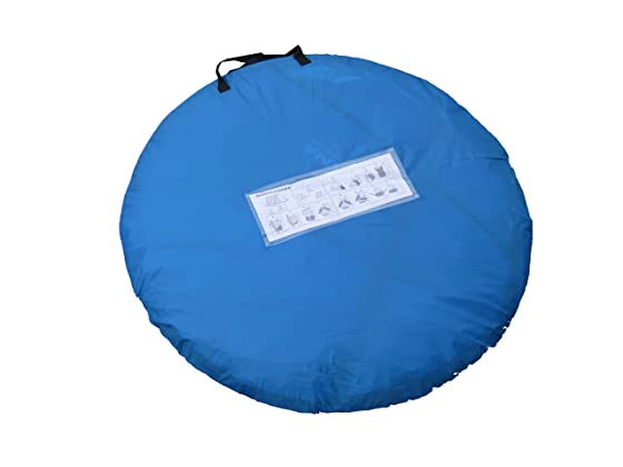 Instruction manual printed on the tent bag of the Zaltana Pop Up Tent  sc 1 st  What is a pop up tent? & Zaltana Pop Up Tent With Inner Tent: High Quality Tent At A Low ...