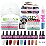 Saint-Acior 10 Colors Gel Polish Starter Kit 36W LED UV Nail Dryer Curing Lamp Manicure Nail Tool (Color: 10D)