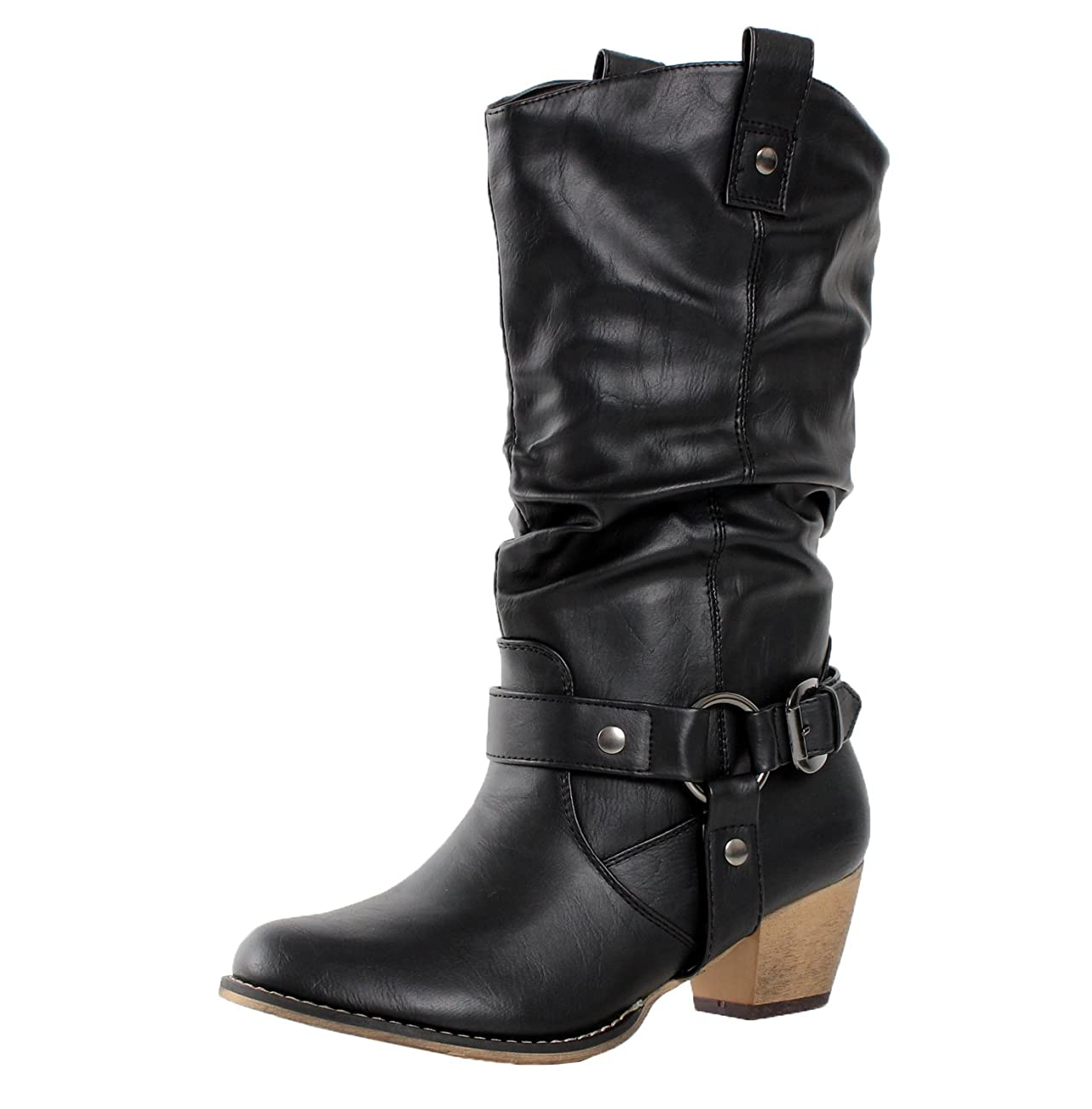 Refresh Women Wild-02 Western Style Cowboy Boots 0