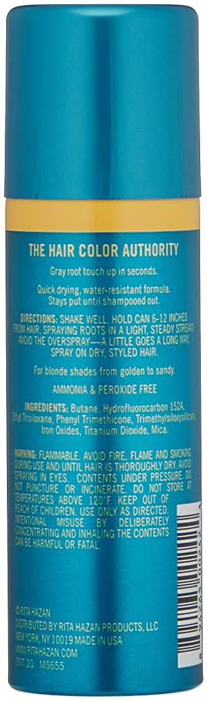 Rita Hazan Root Concealer Touch Up Spray, Light Blonde Cover Up Gray, 2 oz (Color: Light Blonde, Tamaño: 2 Ounce)