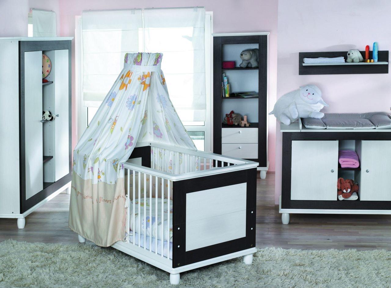 Geuther Kindermöbel 1135S3 3-teiliger Schrank inklusive 2 Kleiderstangen, 3 Einlegeböden, B 153/H 180/T 58 cm