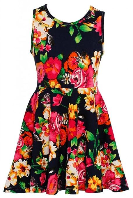 Wonder-Girl-Bouquet-Big-Girls-Jacquard-Floral-Print-Skater-Dress