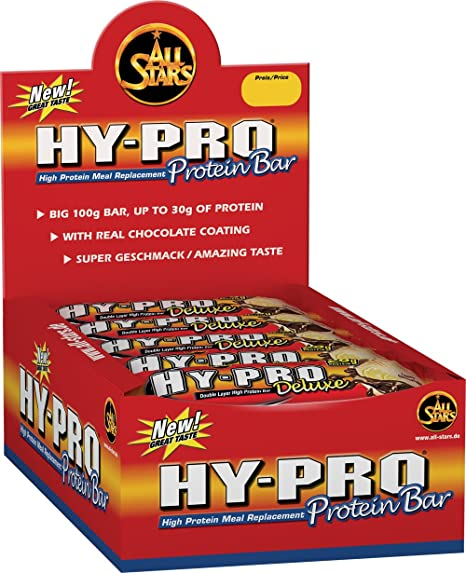 All Stars Hy-Pro Deluxe Bar, White-Chocolate Crunch, 24er Pack (24 x 100 g)