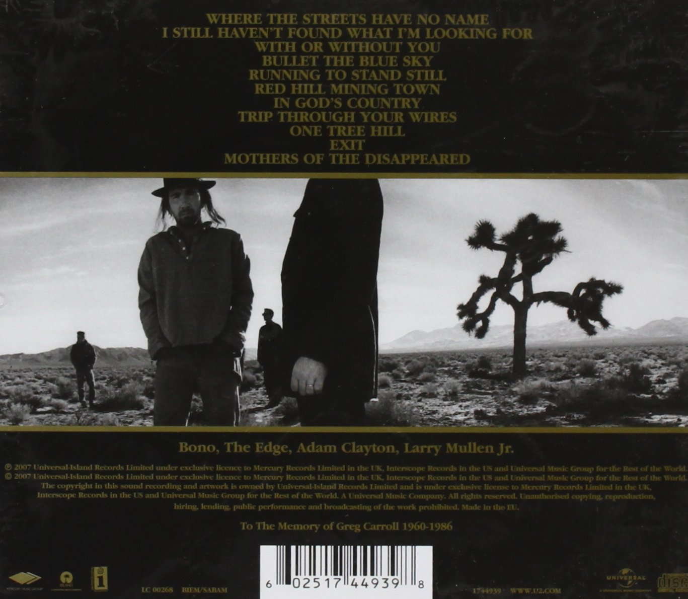 Song Joshua Tree u2 The Joshua Tree