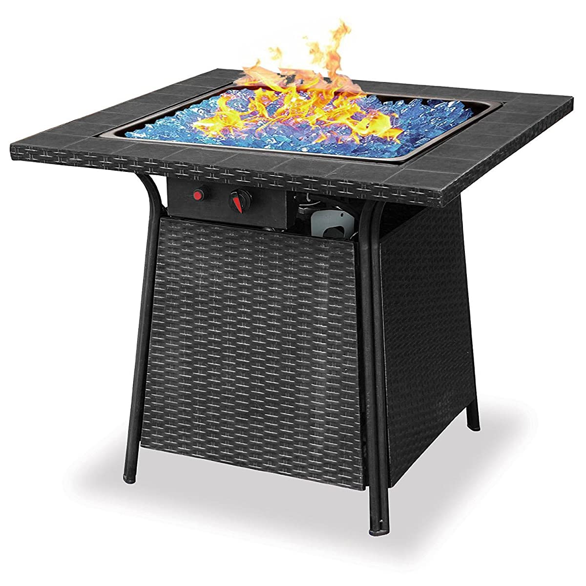 Blue Rhino Endless Summer Outdoor Patio Propane Gas Blue Glass Fire Pit