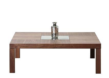 Abbyson Living Corbin Square Coffee Table, Walnut