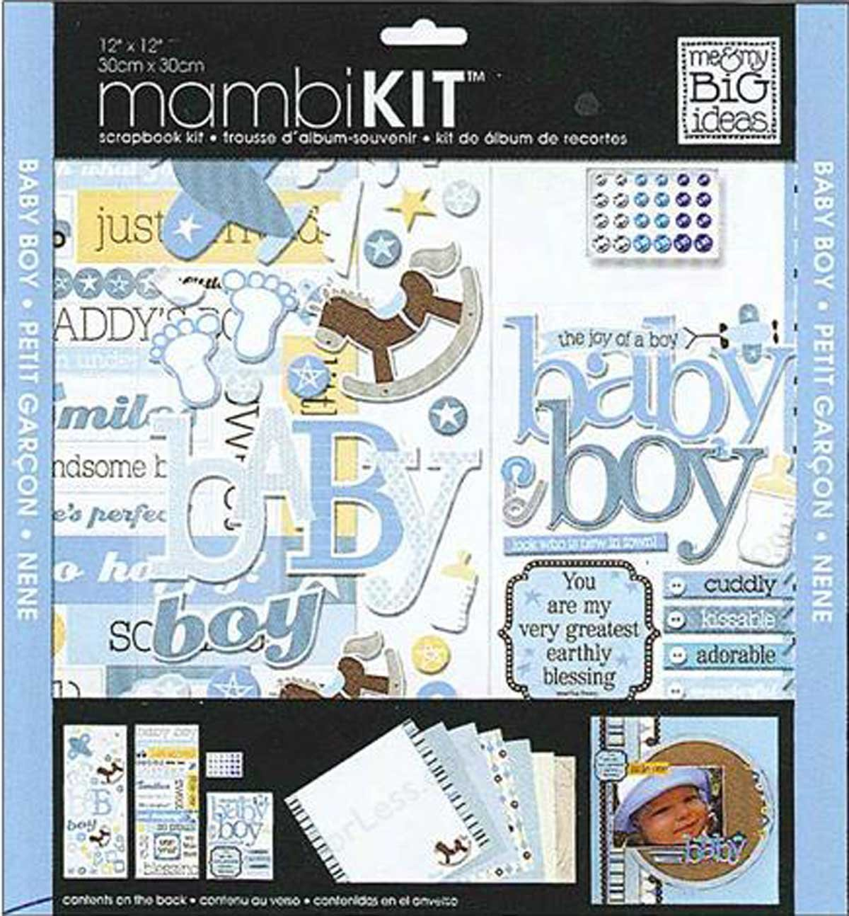 me & my BIG ideas 12-Inch by 12-Inch Scrapbook Page Kit, That's My Boy