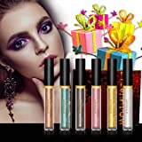 Liquid Eyeshadow - Waterproof Glitter Shimmer Liquid Eyeliner Eyeshadow with 6 Colors (Color: Bronze/Silver)