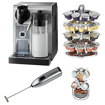 DeLonghi America EN750MB Nespresso Lattissima Pro Machine with Coffee Carousel, Single Serve Coffee Baskets, and Handheld Milk Frother
