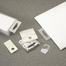 3M ScotchPad Hang Tab 1074 Clear, 1 in x 2 in (100 pads per carton/10 cartons per case)
