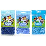 Perler Bead Bag Blue Group (Dark Blue, Light Blue, Pastel Blue) (Color: Dark Blue, Light Blue, Pastel Blue, Tamaño: 5mm)
