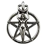 New Beginnings Wicca Pentagram Pendant Necklace - Durable Pewter - Bonus adjustable cord necklace