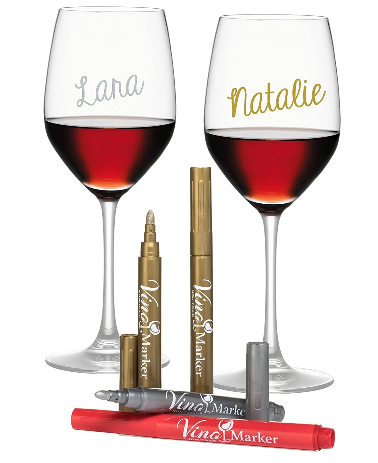 Vino Marker Metallic Wine Glass Pens